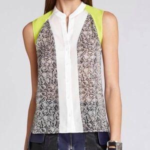 BCBGMaxAzria Sleeveless Button Up Shirt